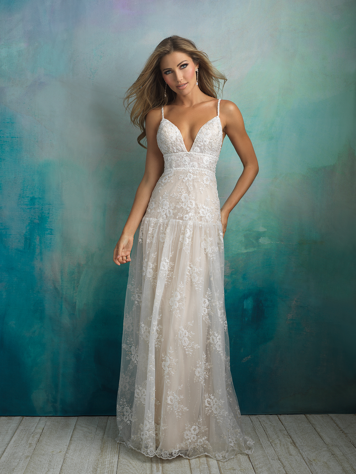 Style 9524XS 33709718 Bohemian A Line Wedding Dress By Allure Bridals