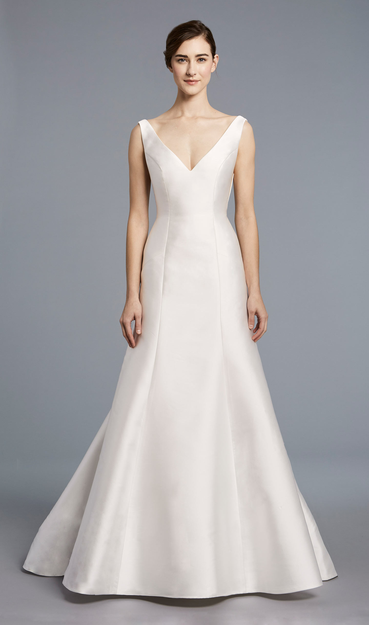 Simple V Neck Classic Kleinfeld Bridal