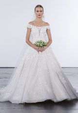 Bohemian Ball Gown Wedding Dress by Dennis Basso - Image 1