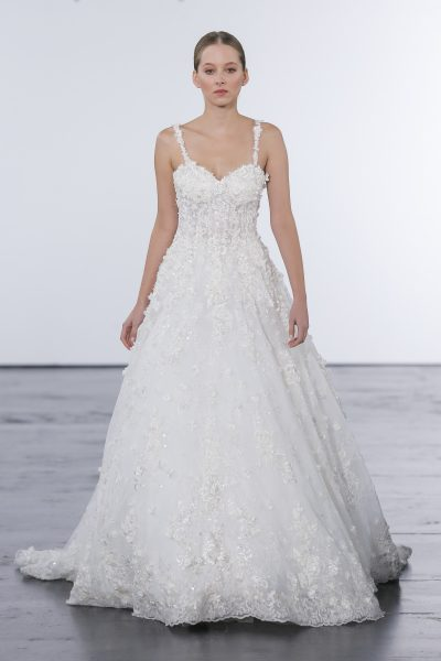 Classic Ball Gown Wedding Dress by Dennis Basso - Image 1