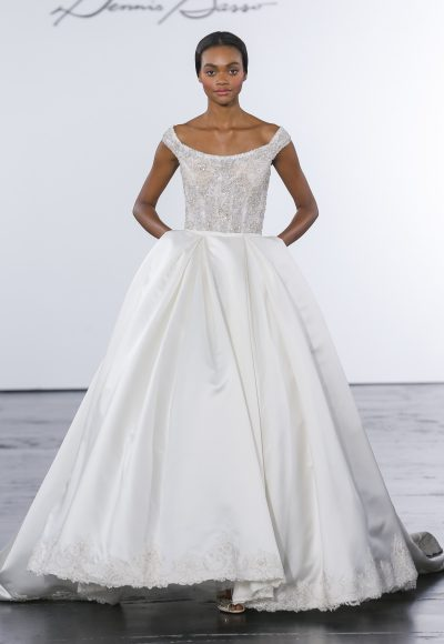 Classic Ball Gown Wedding Dress by Dennis Basso