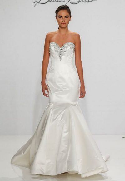 Classic Fit And Flare Wedding Dress by Dennis Basso