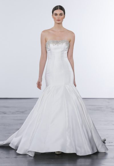 Classic Mermaid Wedding Dress by Dennis Basso