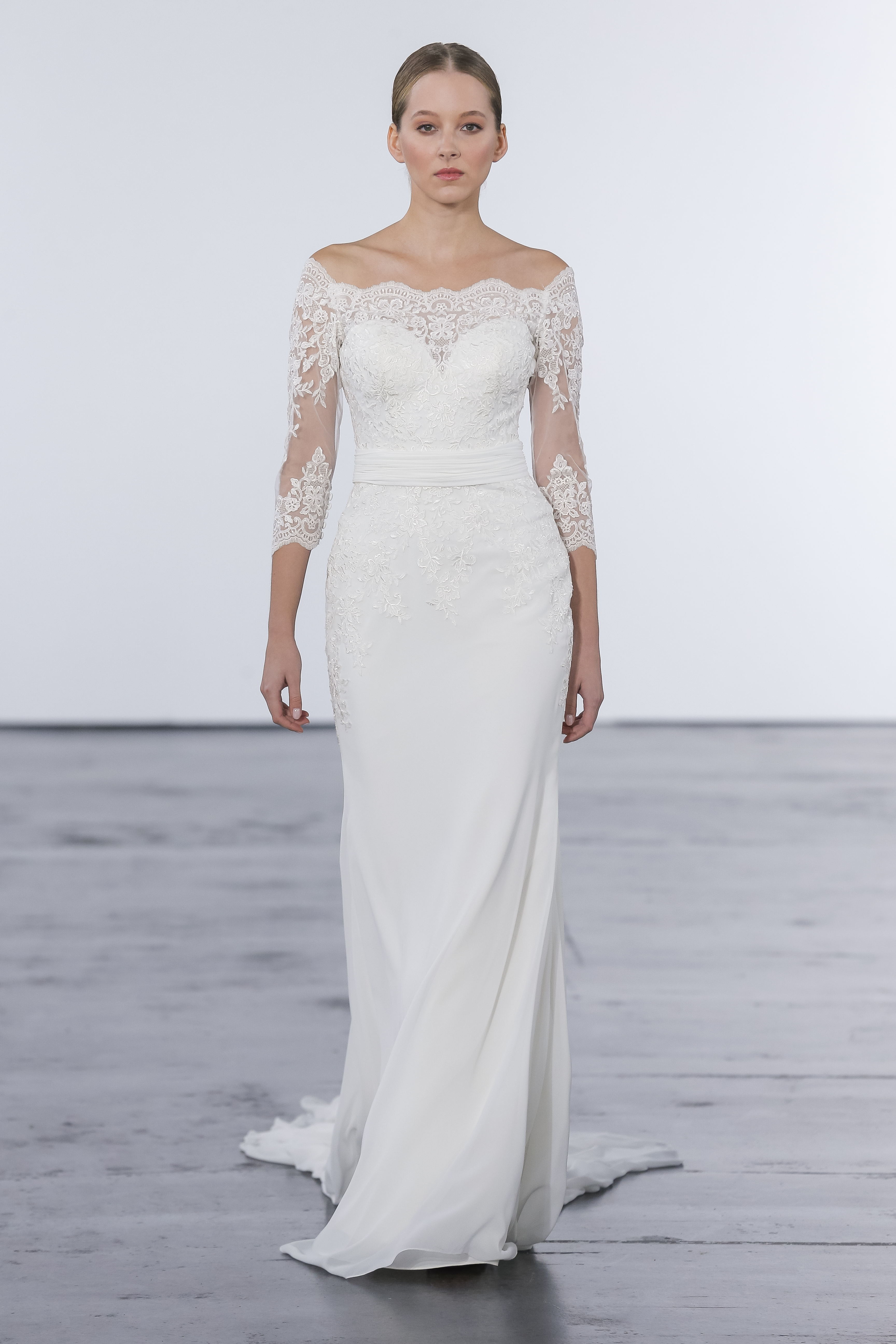 594e78089494f Classic Sheath Wedding Dress | Kleinfeld Bridal