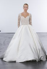 Modern Ball Gown Wedding Dress by Dennis Basso - Image 1