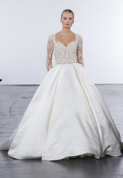 Modern Ball Gown Wedding Dress by Dennis Basso