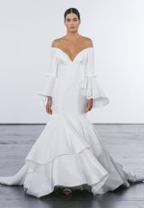 Modern Mermaid Wedding Dress by Dennis Basso - Image 1