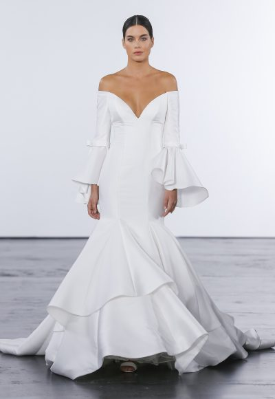Modern Mermaid Wedding Dress by Dennis Basso