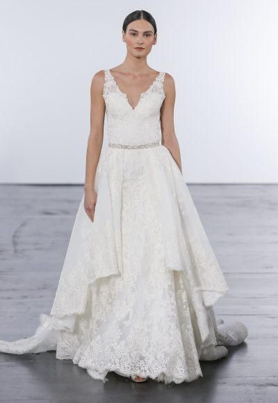 Romantic Sheath Wedding Dress by Dennis Basso