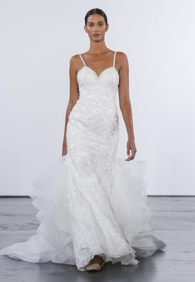 Sexy Fit And Flare Wedding Dress by Dennis Basso