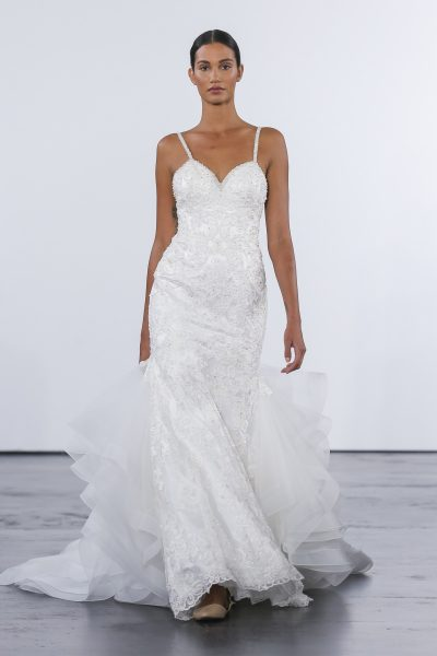Sexy Fit And Flare Wedding Dress by Dennis Basso - Image 1