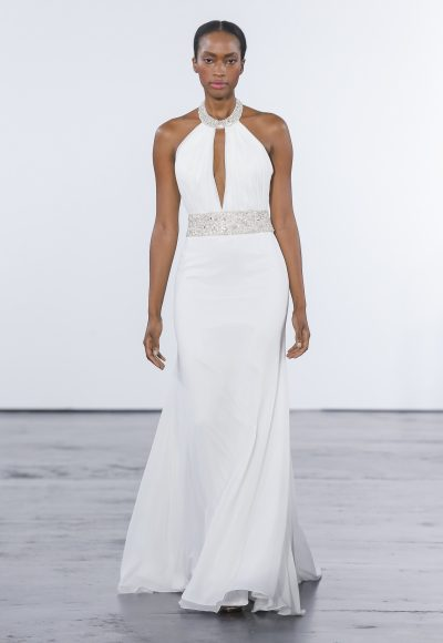 Sexy Sheath Wedding Dress by Dennis Basso