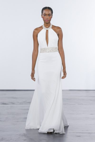 Sexy Sheath Wedding Dress by Dennis Basso - Image 1