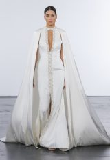 Trendy Sheath Wedding Dress by Dennis Basso - Image 1
