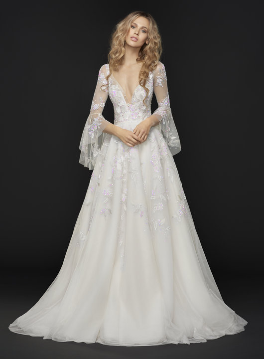 Trendy Ball Gown Wedding Dress By Hayley Paige Image 1 Zoomed In