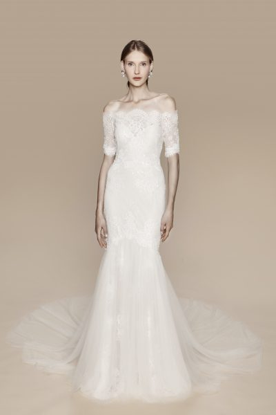 Classic Off-the-shoulder Romantic by Notte Bridal by Marchesa - Image 1