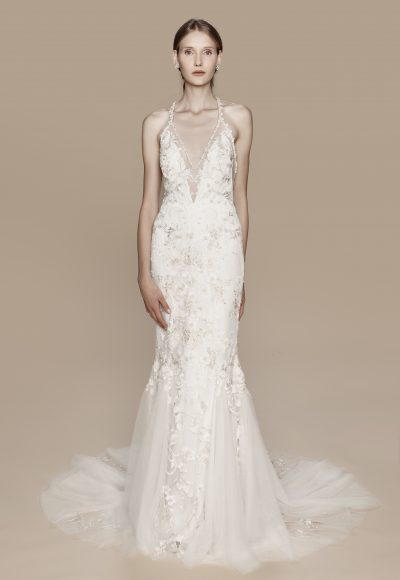 Classic V-neck Bohemian by Notte Bridal by Marchesa