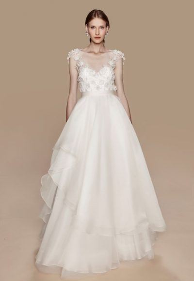 Modern V-neck Romantic by Notte Bridal by Marchesa