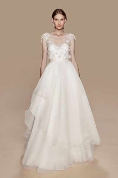 Modern V-neck Romantic by Notte Bridal by Marchesa - Image 1