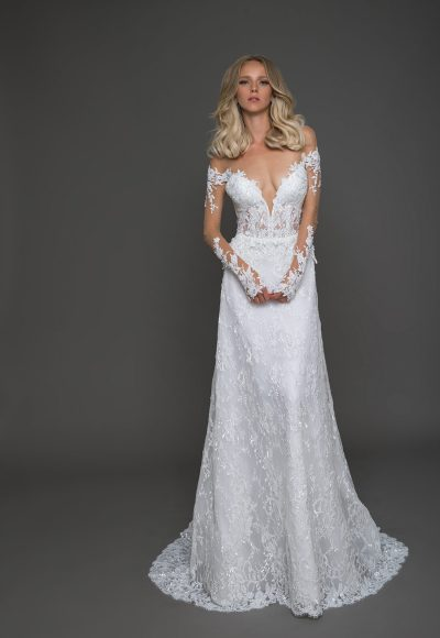 Modern A-line Wedding Dress by Pnina Tornai