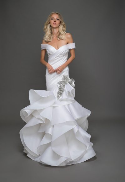 Modern Mermaid Wedding Dress by Pnina Tornai