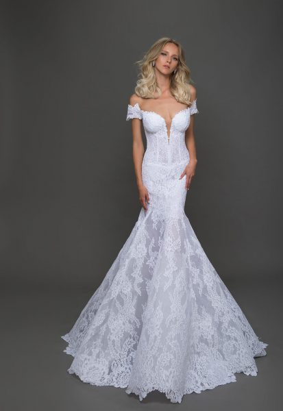 Sexy Fit And Flare Wedding Dress By Pnina Tornai