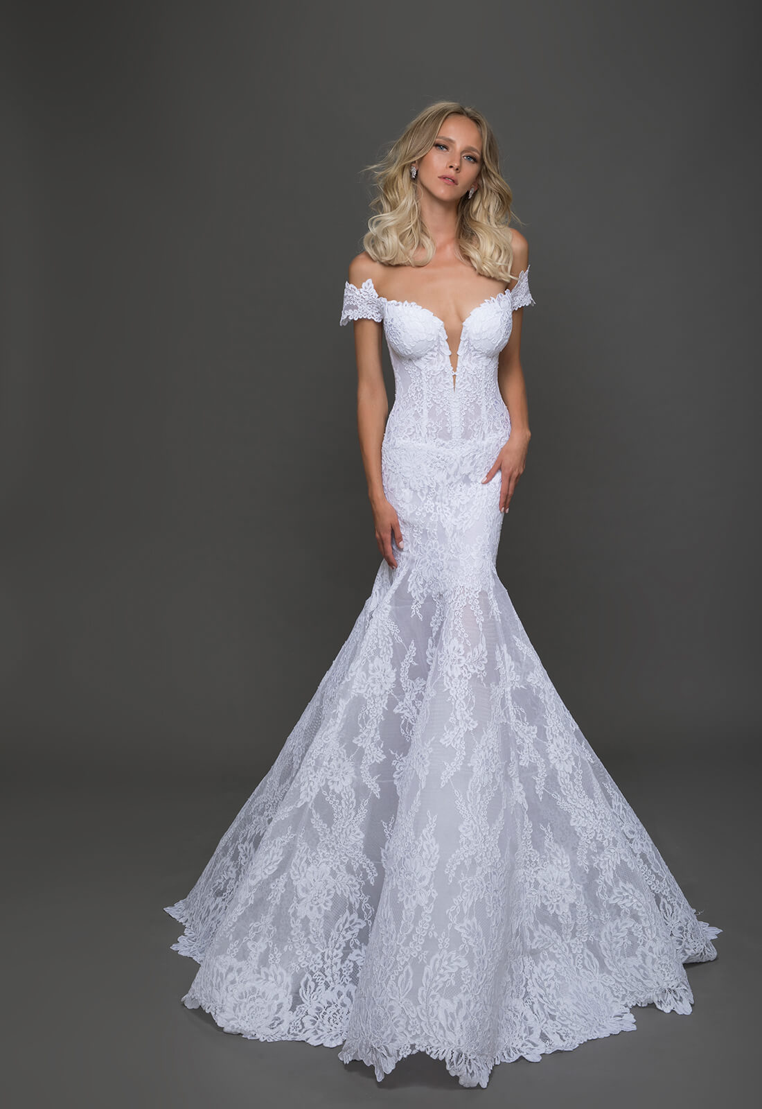 Sexy fit and flare wedding dress kleinfeld bridal sexy fit and flare wedding dress by pnina tornai image 1 zoomed in junglespirit Choice Image