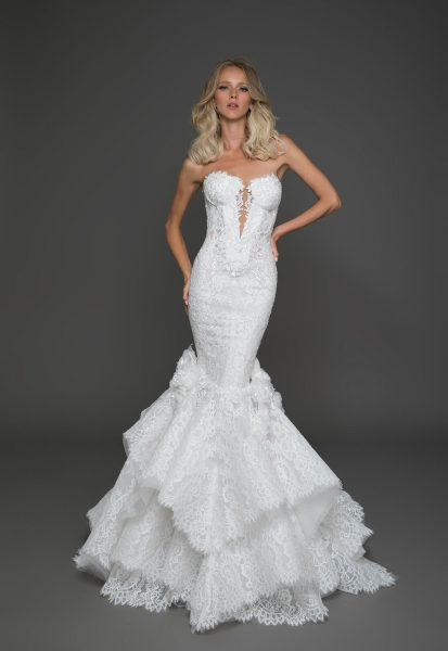 Sexy mermaid wedding dress kleinfeld bridal for Kleinfeld mermaid wedding dresses