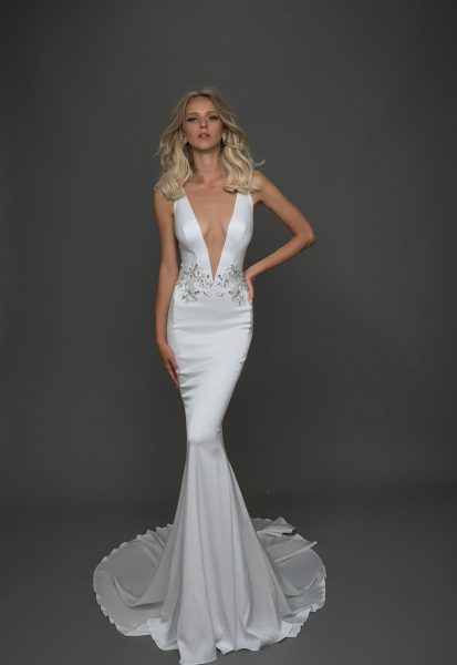 Sexy Sheath Wedding Dress by Pnina Tornai - Image 1