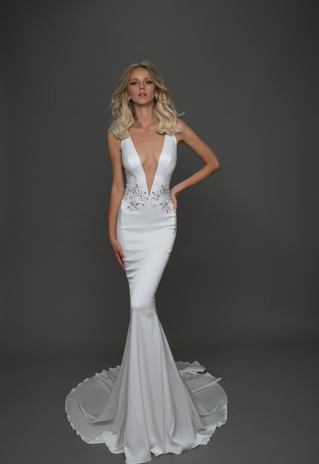 Sexy Sheath Wedding Dress Kleinfeld Bridal