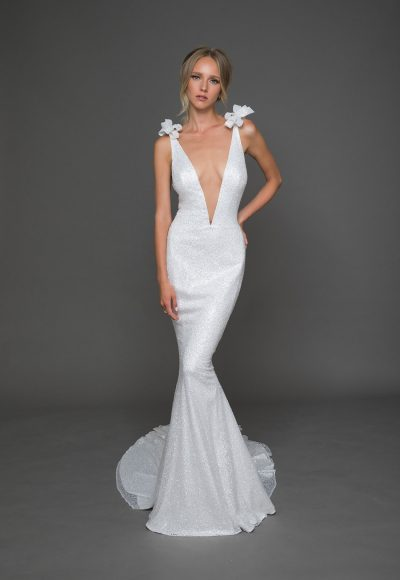 Trendy A-line Wedding Dress by Pnina Tornai