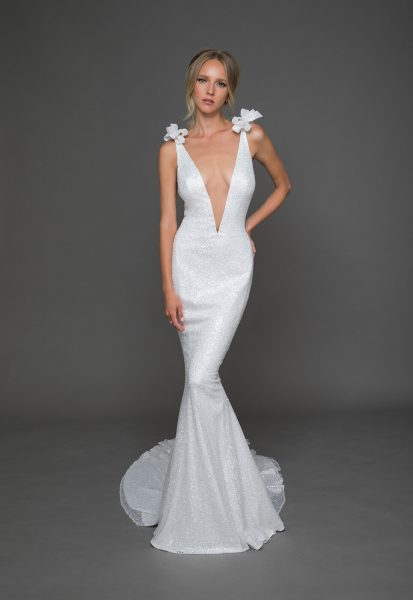 Trendy A-line Wedding Dress by Pnina Tornai - Image 1
