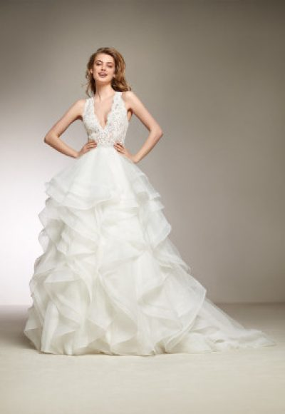 Romantic Ball Gown Wedding Dress by Pronovias