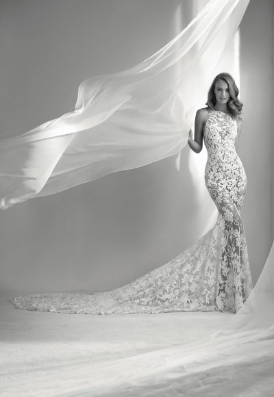 Sexy High Neck Modern by Pronovias