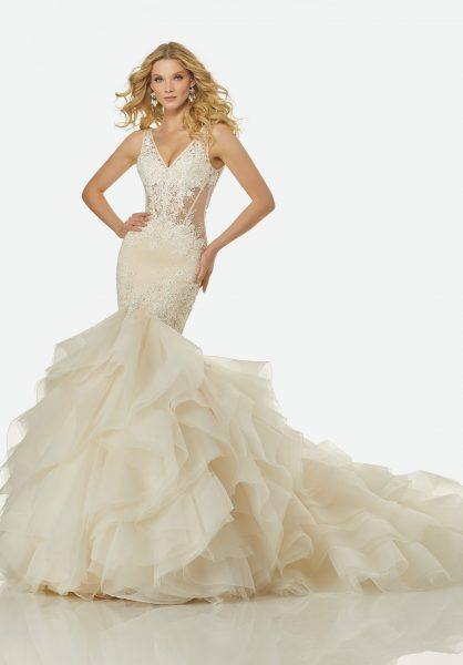 Romantic Mermaid Wedding Dress by Randy Fenoli - Image 1