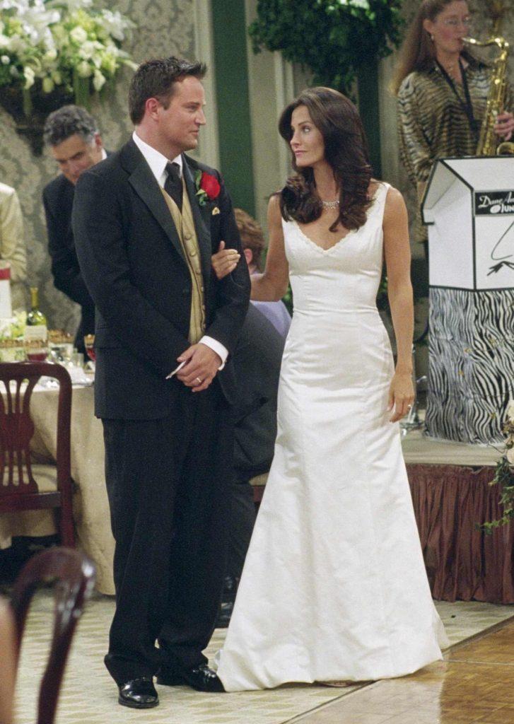Friends Monica and Chandler Wedding