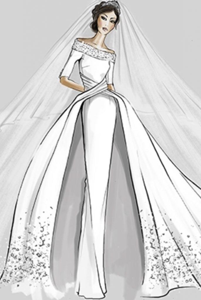 Designer Sketches For Meghan Markle\'s Wedding Dress | Kleinfeld Bridal