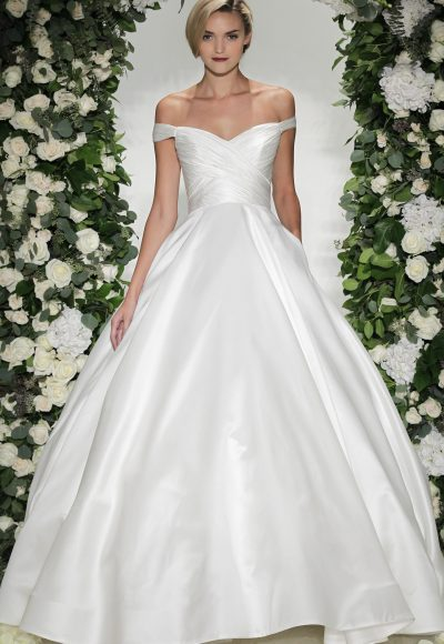 Classic Ball Gown Wedding Dress by Anne Barge