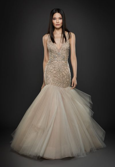 Romantic Fit And Flare Wedding Dress by Lazaro