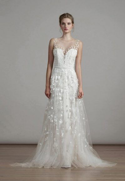 Romantic A-line Wedding Dress by Liancarlo