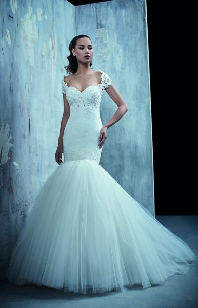 Classic Mermaid Wedding Dress by Maison Signore - Image 1