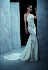 Modern Fit And Flare Wedding Dress by Maison Signore - Image 1