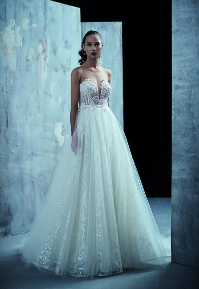 Romantic Ball Gown Wedding Dress by Maison Signore