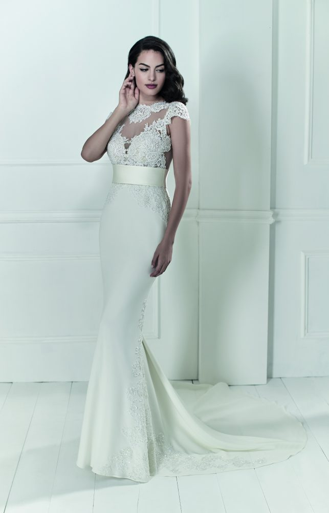 Romantic Fit And Flare Wedding Dress by Maison Signore - Image 1