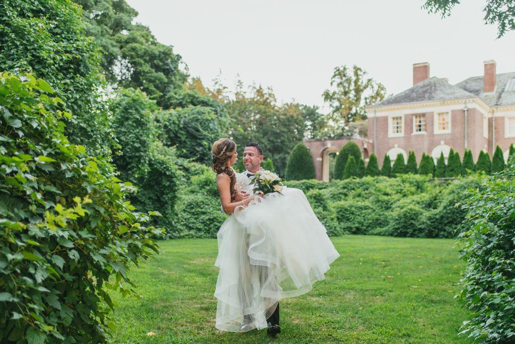 Lauren and David bride and groom