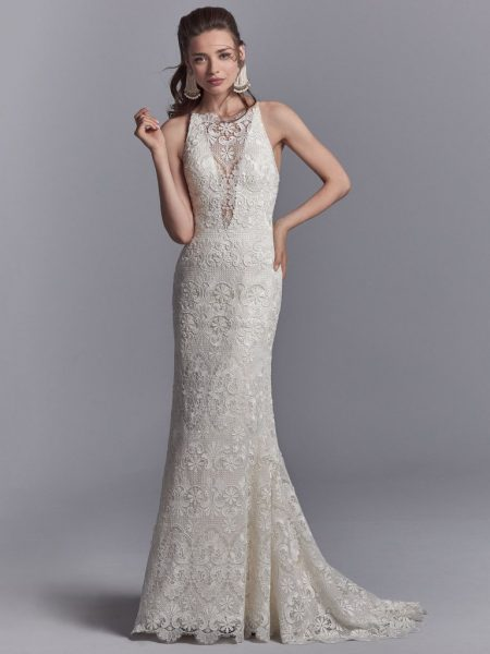 Bohemian Sheath Wedding Dress by Sottero and Midgley - Image 1
