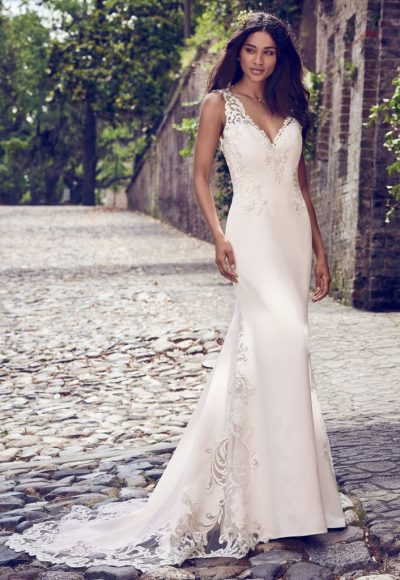 Classic Sheath Wedding Dress by Maggie Sottero