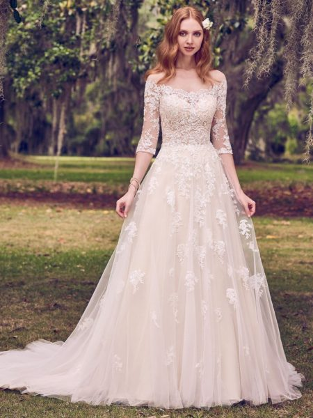 Simple A Line Wedding Dress By Maggie Sottero Image 1