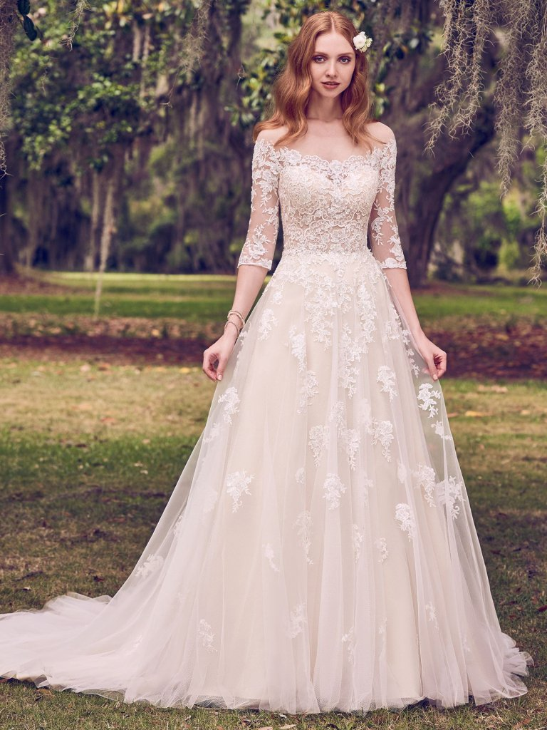 create a wedding dress simple a line wedding dress kleinfeld bridal 3178