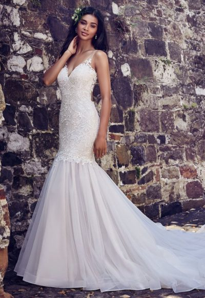 Trendy Fit And Flare Wedding Dress by Maggie Sottero